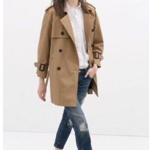ZARA SHORT TRENCH COAT/Belted Double Breasted